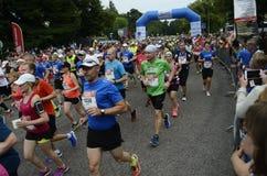 """€ de HELSÍNQUIA, FINLANDIA """"12 de agosto de 2017: Maratona da cidade de Helsínquia, 1 Imagens de Stock"""