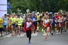 """€ de HELSÍNQUIA, FINLANDIA """"12 de agosto de 2017: Maratona da cidade de Helsínquia, 1 Fotografia de Stock Royalty Free"""