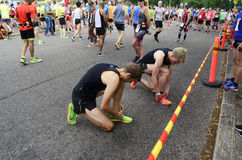 € de HELSINKI, FINLANDE «le 12 août 2017 : Marathon de ville de Helsinki, 1 Photos stock