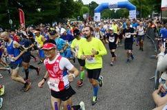 € de HELSINKI, FINLANDE «le 12 août 2017 : Marathon de ville de Helsinki, 1 Photos libres de droits