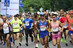 € de HELSINKI, FINLANDE «le 12 août 2017 : Marathon de ville de Helsinki, 1 Image libre de droits