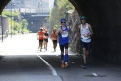 € de HELSINKI, FINLANDE «le 12 août 2017 : Marathon de ville de Helsinki, 1 Images stock