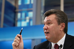 """€ de KIEV (KYIV), UCRANIA """"29 de febrero de 2008: Presidente ucraniano anterior Viktor Yanukovych Fotografía de archivo libre de regalías"""