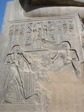 """€ de Luxor Temple"""" las ruinas del templo central del Amun-RA fotografía de archivo libre de regalías"""