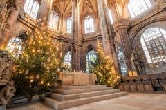 """€ de Nuremberg, Alemanha """"30 de dezembro de 2016: Igreja do St Lorenz Fotografia de Stock"""