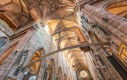 € de Nuremberg, Allemagne «le 30 décembre 2016 : Église de St Lorenz Photo libre de droits