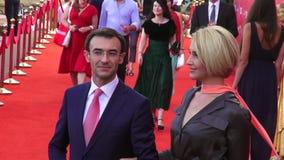 """€ de Odessa, Ucrânia """"7 de julho de 2014: Convidados Odessa International Film Festival no tapete vermelho na cerimônia de inaug video estoque"""