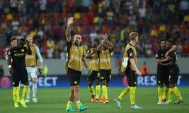 € de QUALIFICATION de LIGUE de CHAMPIONS d'UEFA «STEAUA BUCAREST contre Manchester City photographie stock