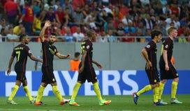 € de QUALIFICATION de LIGUE de CHAMPIONS d'UEFA «STEAUA BUCAREST contre Manchester City images libres de droits