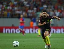 € de QUALIFICATION de LIGUE de CHAMPIONS d'UEFA «STEAUA BUCAREST contre Manchester City photos libres de droits
