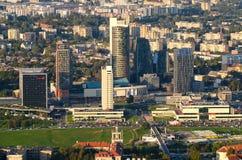 € de VILNIUS, LITHUANIE «le 17 septembre 2014 : Nouveau centre de Vilnius, Lithuanie Images libres de droits