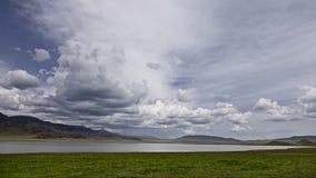 """€ del lago Tuzkol """"el mar muerto de Kazajistán Revestimientos del tiempo metrajes"""