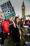"""€ di istruzione di dimostrazione di studente gratis """"nessun tagli, nessun tasse, n Immagini Stock Libere da Diritti"""