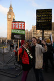 "€ di istruzione di dimostrazione di studente gratis ""nessun tagli, nessun tasse, n Immagine Stock Libera da Diritti"