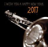 """€ 2017 do ano novo feliz """"um cartão Imagens de Stock Royalty Free"""