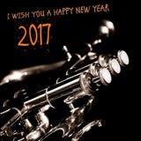 """€ 2017 do ano novo feliz """"um cartão Imagem de Stock Royalty Free"""