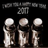 """€ 2017 do ano novo feliz """"um cartão Imagens de Stock"""