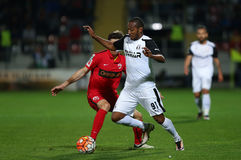 € du football « ASTRA GIURGIU contre DINAMO BUCURESTI Photo stock