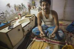 """€ JAIPURS, Rajasthan, Indien """"im Dezember 2016: Indischer Juwelier machend Stockfotografie"""