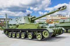 152†` mm自走短程高射炮2S3 库存照片