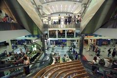 """€ Moskaus, RUSSLAND """"am 22. Juni: Leute an der Flughafenlandung in Moskau am 22. Juni 2014 Lizenzfreie Stockfotografie"""