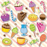 Cute sweet dessert clip art Stock Photography