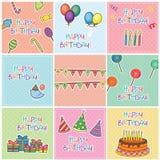 Birthday Cards Digital Set Royalty Free Stock Photography