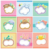 Cute animal cards collection royalty free illustration