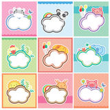 Cute animal cards collection vector illustration