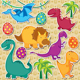 Cute dinosaurs clip art Royalty Free Stock Photography