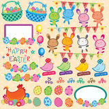 Happy Easter Elements Clip Art Stock Image