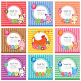 Cute easter cards Royalty Free Stock Photo