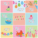 Easter Cards Stock Photo