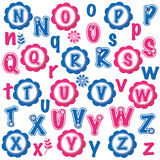 Fun alphabets clip art set (N-Z) Royalty Free Stock Photos