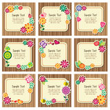 Forest nature invitation cards vector illustration
