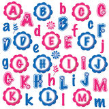 Fun alphabets clip art set (A-M) Stock Photos