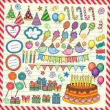 Fun Party Elements Clip Art Set Stock Photography