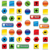 Colorful icon and buttons set Royalty Free Stock Image