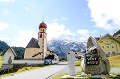 Vent w jesieni, wioska w Oetstal (Austria) Obrazy Royalty Free