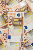 50€ banknotes. Pile of 50€ bank notes Stock Photography