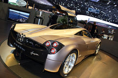 2011 da mostra de motor de Genebra Pagani Huayra Foto de Stock Royalty Free