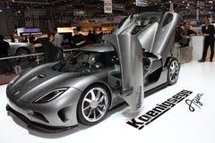 2011 de la demostración de motor de Ginebra Koenigsegg Agera Fotografía de archivo libre de regalías