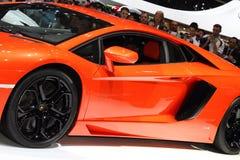 2011 de la demostración de motor de Ginebra Lamborghini Aventador Fotografía de archivo libre de regalías
