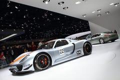 2011 de la demostración de motor de Ginebra Porsche 918 RSR Fotografía de archivo libre de regalías