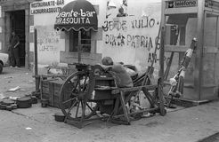 AGOSTO de GALIZA, SPAIN, 1977 Foto de Stock
