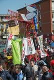 35° carnevale een Scampia - Napels Italië Stock Foto's