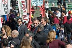 35° carnevale een Scampia - Napels Italië Stock Afbeelding
