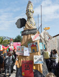 35° carnevale Scampia -那不勒斯意大利 库存图片