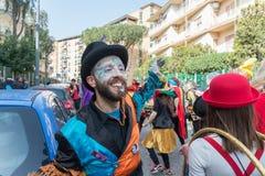 35° carnevale Scampia -那不勒斯意大利 免版税图库摄影