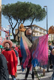 35° carnevale Scampia -那不勒斯意大利 免版税库存图片